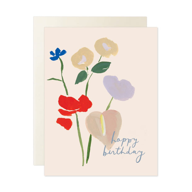 Happy Birthday Bouquet Note Card