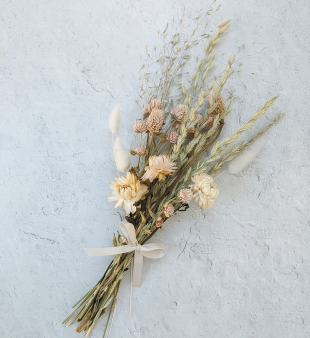 Ivory Dried Floral Bundle