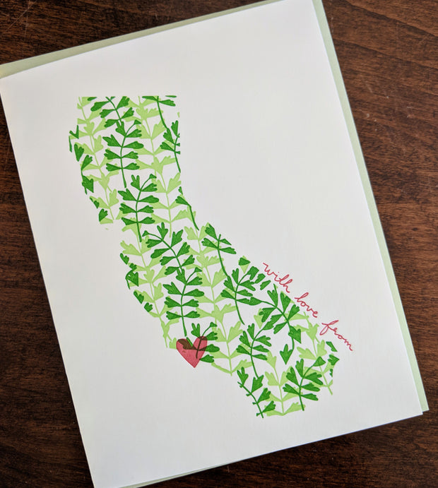 With Love From Santa Barbara, California Card