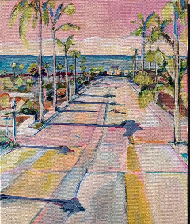 Oceanside Palms Art Print