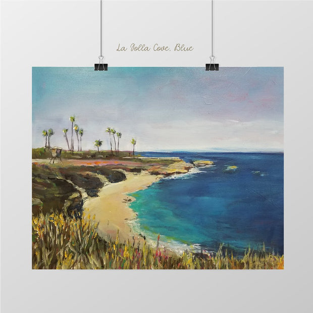 La Jolla Cove Blue Art Print