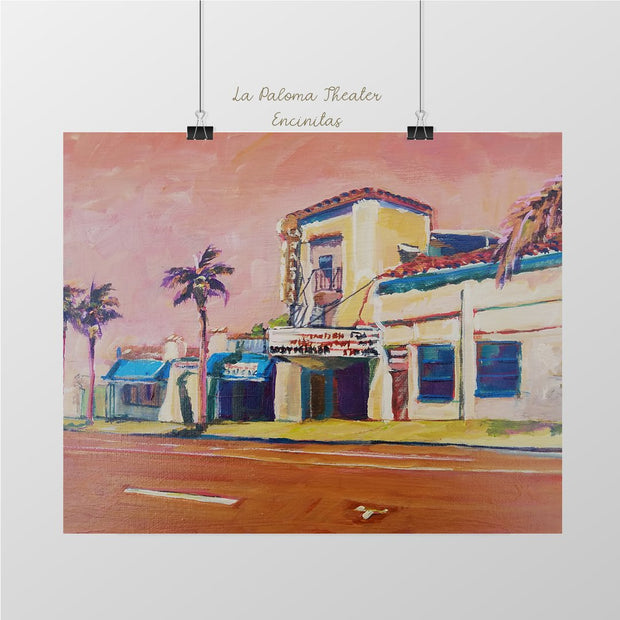 Historic La Paloma Encinitas Art Print