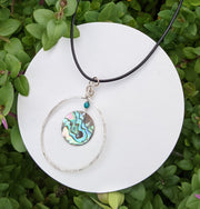 Large Silver Abalone Necklace