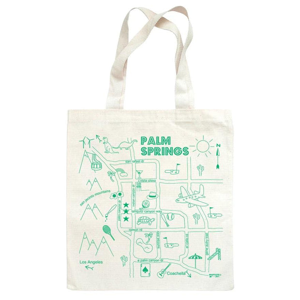 Palm Springs Map Tote