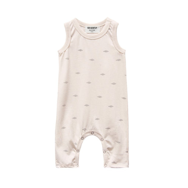 Pink Tint Dot Printed Long Romper