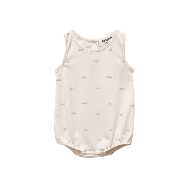 Natural Dot Printed Jersey Onesie