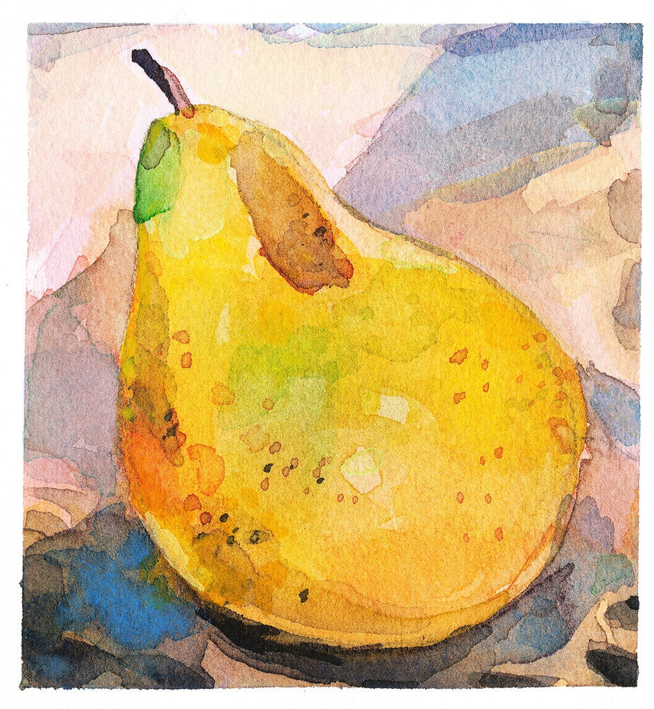 Season's Greetings Farmer's Market Pear Card Single Note Cards - Karin Shelton, The Santa Barbara Company - 2