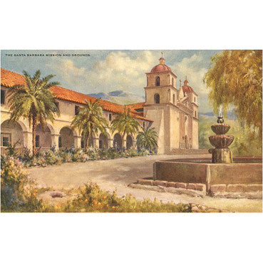 Mission Vintage Note Cards Santa Barbara Note Cards - Found Image, The Santa Barbara Company - 2