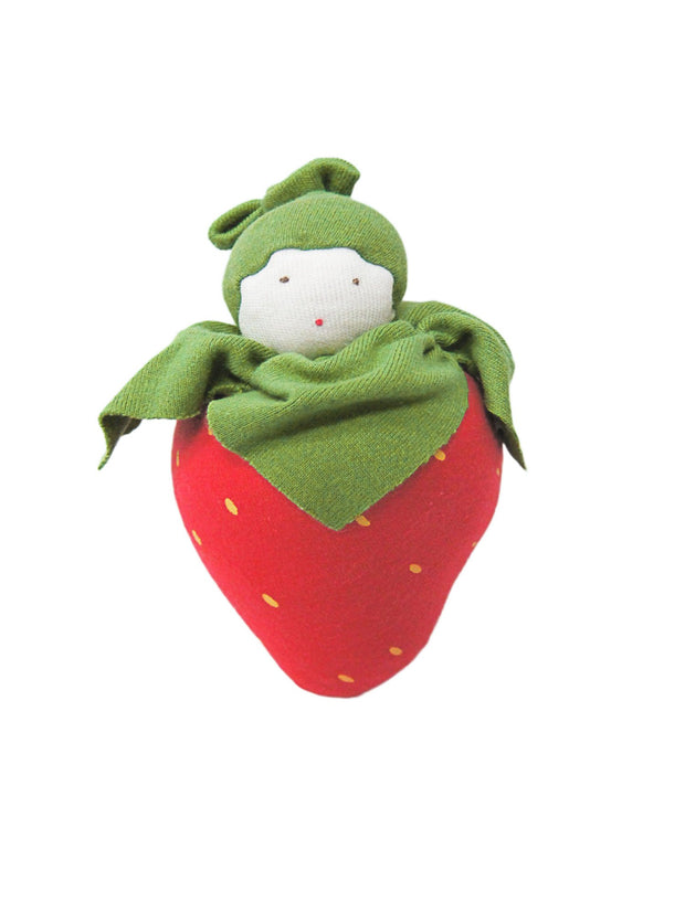 Strawberry Fruit Toy - Organic Cotton