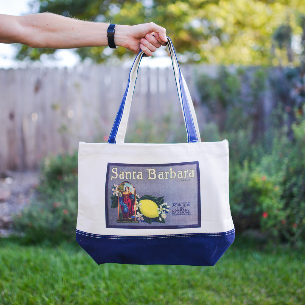 Saint Barbara California Citrus Tote Totes - California Citrus Company, The Santa Barbara Company