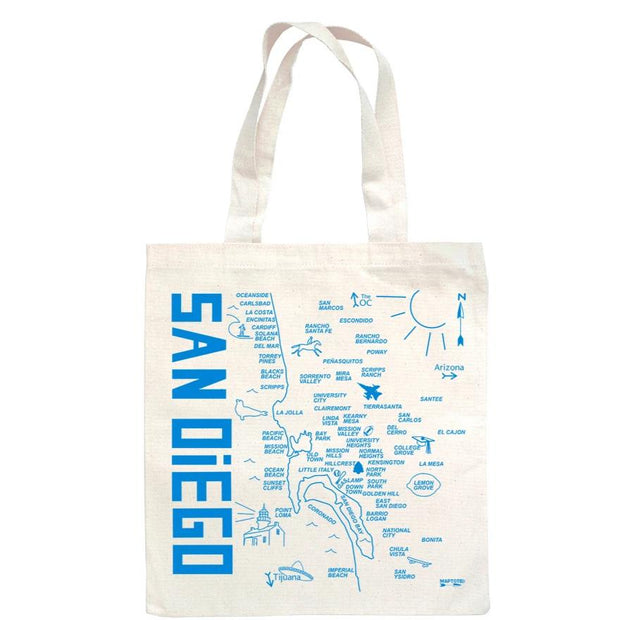 San Diego Map Tote