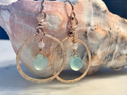 Beach Girl Chalcedony Earrings