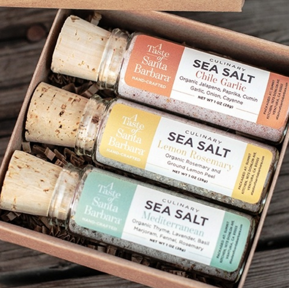 A Taste of Santa Barbara Culinary Salt Trio Culinary Salts and Herbs - Chef Robin, The Santa Barbara Company