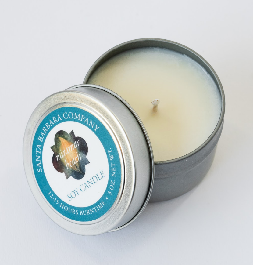 Miramar Beach Travel Candle