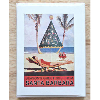 Season's Greetings from Santa Barbara Umbrella Note Cards Christmas/Holidays - Found Image, The Santa Barbara Company - 1