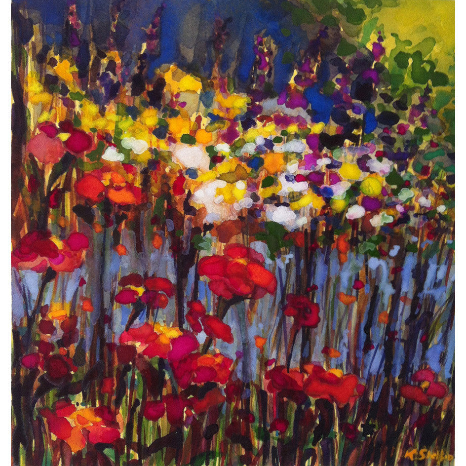Summer Zinnias Print Karin Shelton - Karin Shelton, The Santa Barbara Company