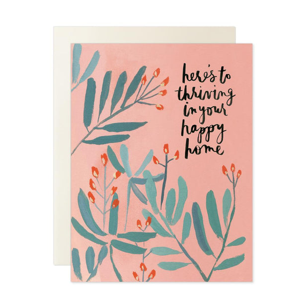 Thriving Happy Home Note Card