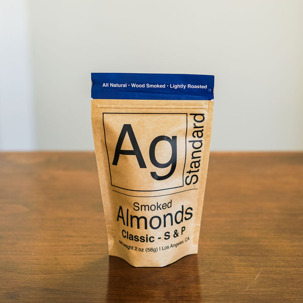 Classic Salt + Pepper Almonds Snacks and Candies - Ag Standard, The Santa Barbara Company