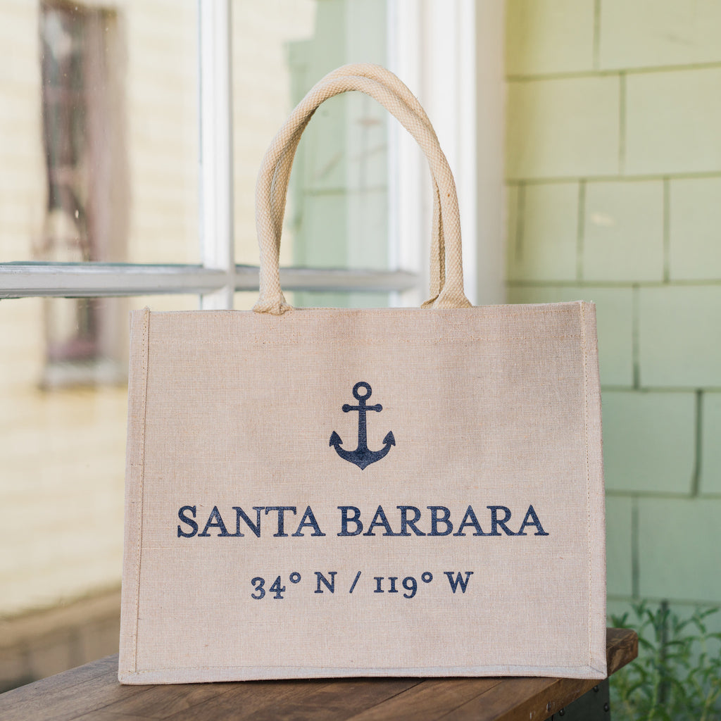 Santa Barbara Coordinates Anchor Large Tote Totes - The Santa Barbara Company, The Santa Barbara Company