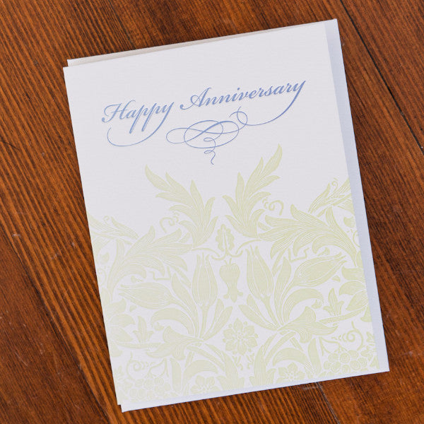 Happy Anniversary Letterpress Card Stationery and Calendars - Red Oak Letterpress, The Santa Barbara Company