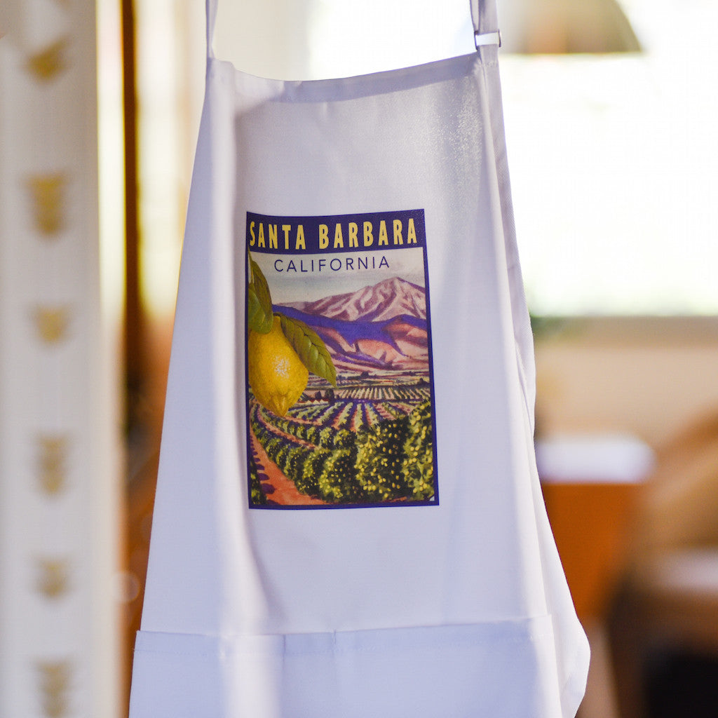 Lemon Orchard Santa Barbara Apron Aprons - Pacific Swell Designs, The Santa Barbara Company - 1