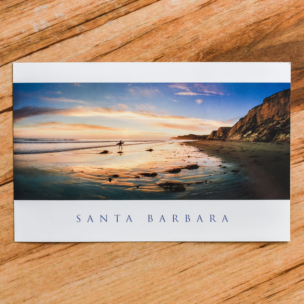 Surfer at Sunset Postcard Postcards - Lumino Press, The Santa Barbara Company