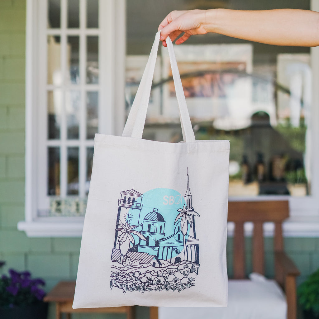 Santa Barbara Native Tote - Sea Foam Totes - Native, The Santa Barbara Company