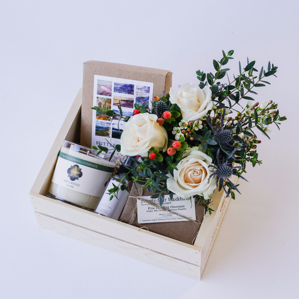 Butterfly Beach Gift Box with Flowers Floral Gifts - The Santa Barbara Company Floral Gifts, The Santa Barbara Company