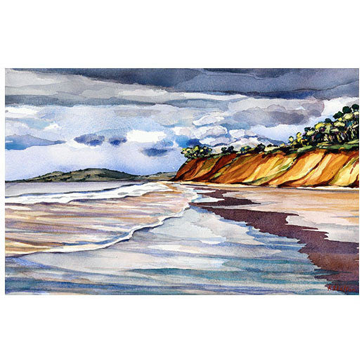 Butterfly Beach Cliffs Print Karin Shelton - Karin Shelton, The Santa Barbara Company - 2