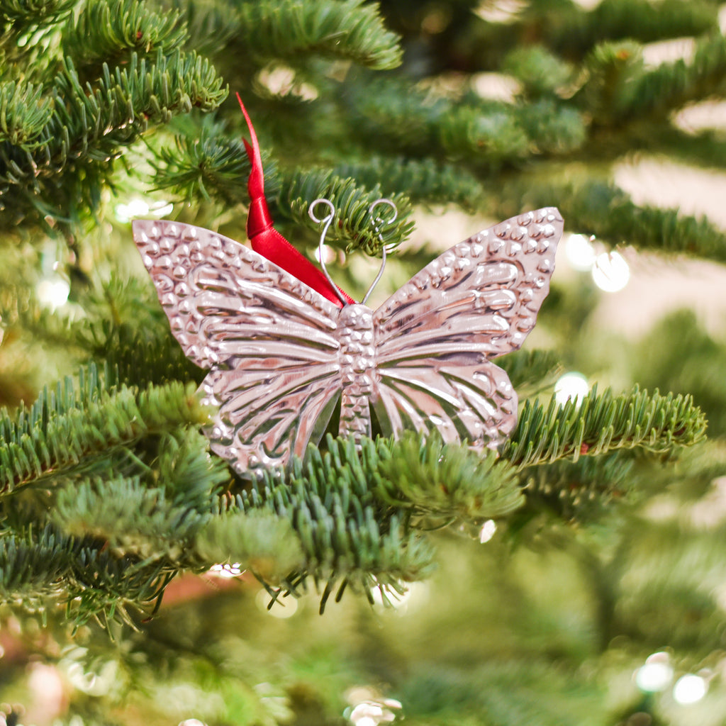Butterfly Tin Ornament Christmas/Holidays - Alessaro Designs, The Santa Barbara Company