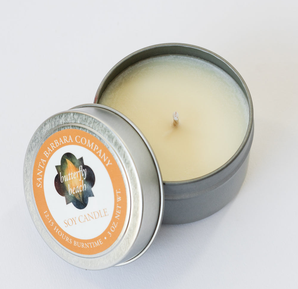 Butterfly Beach Travel Candle