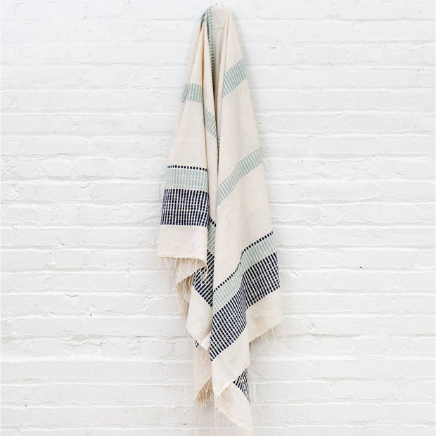 Navy + Ocean Towel (Fair Trade)