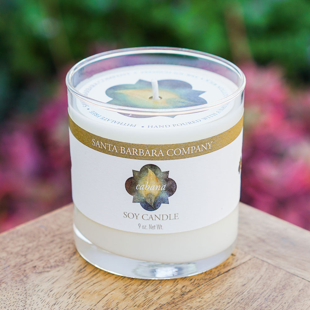 Cabana Soy Candle Candles and Home Fragrance - The Santa Barbara Company x Late Harvest, The Santa Barbara Company