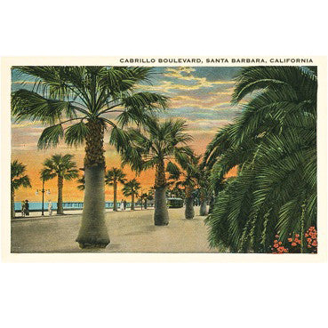 Cabrillo Boulevard Vintage Note Cards Santa Barbara Note Cards - Found Image, The Santa Barbara Company - 2
