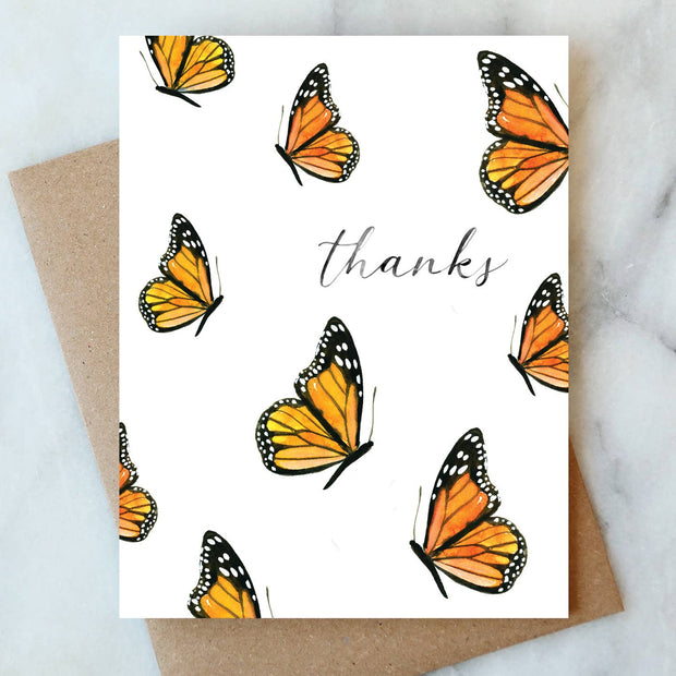 Monarch Butterfly Thank You Cards