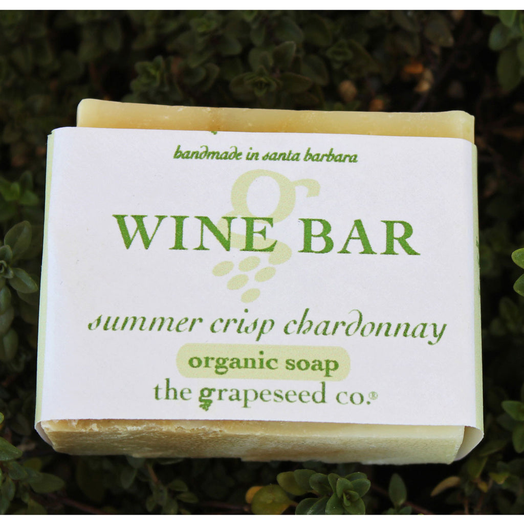 Chardonnay Wine Soap - Half Bar Wine Soap - The Grapeseed Company, The Santa Barbara Company