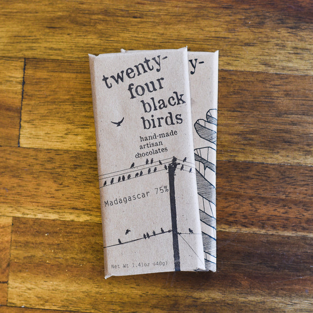 Large Chocolate Bar - Local Delivery Only Snacks and Candies - Twenty-Four Blackbirds Chocolate, The Santa Barbara Company - 2