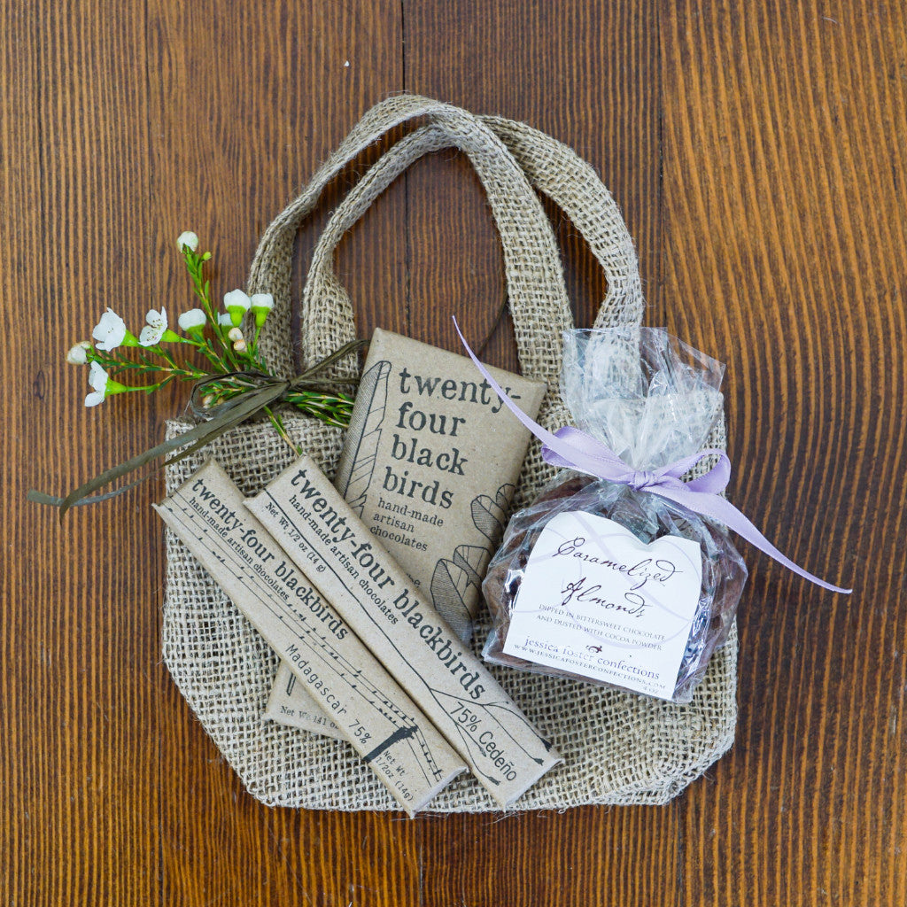 Dark Chocolate and Almonds Mini Gift Tote  - Assorted/Gifts, The Santa Barbara Company