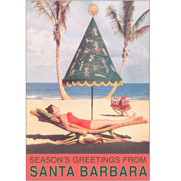 Season's Greetings from Santa Barbara Umbrella Note Cards Christmas/Holidays - Found Image, The Santa Barbara Company - 2