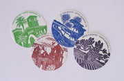 Santa Barbara Letterpress Coaster Set