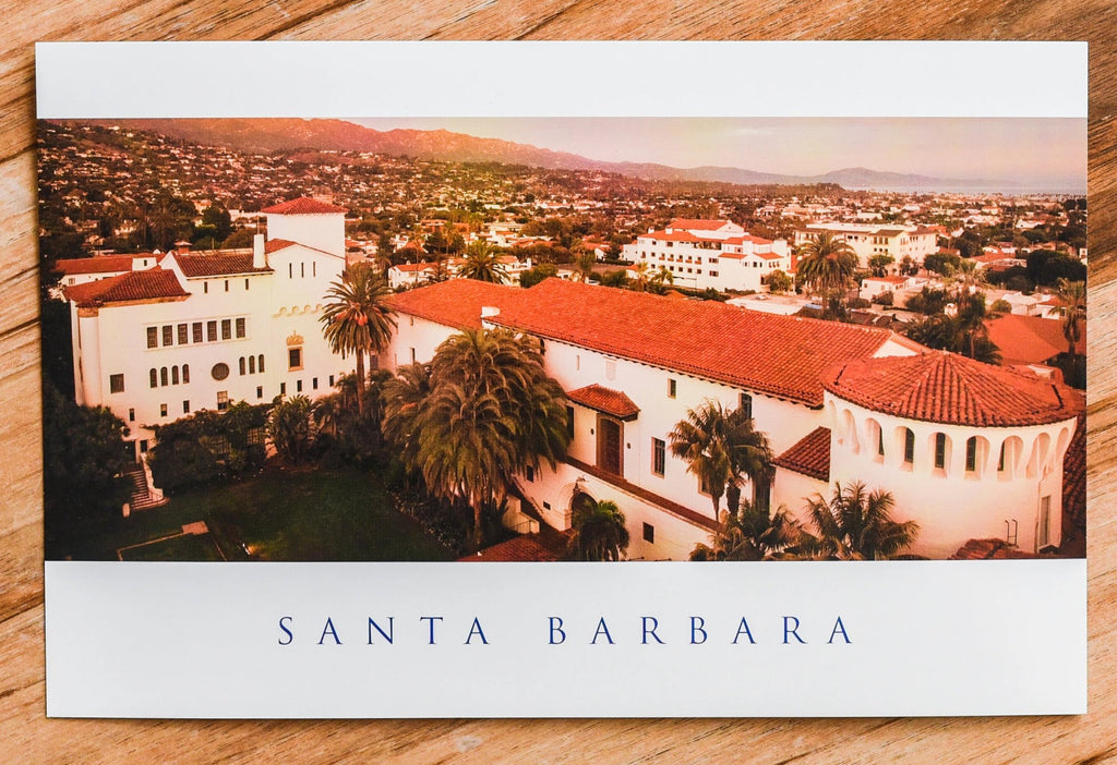 Courthouse Rooftops at Sunset Postcard Postcards - Lumino Press, The Santa Barbara Company