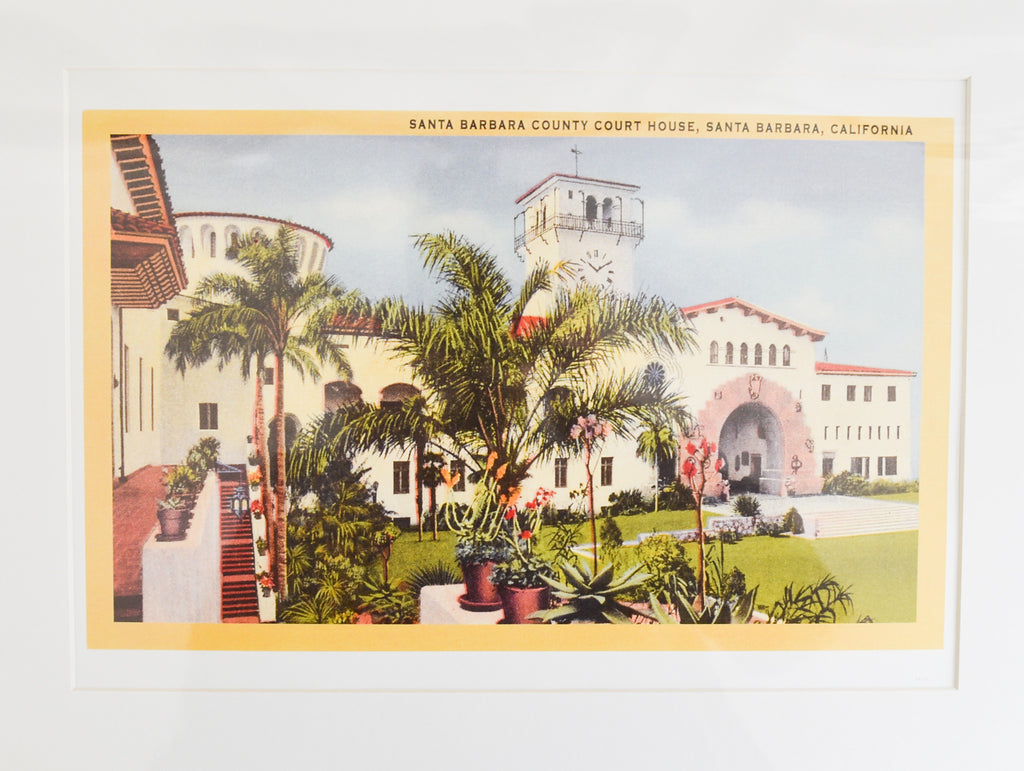 Beautiful Santa Barbara Courthouse Print Santa Barbara Prints - Found Image, The Santa Barbara Company
