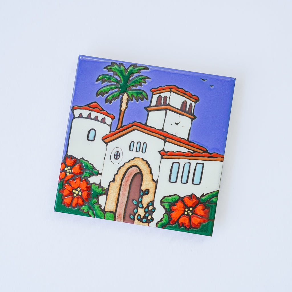 Courthouse of Santa Barbara Ceramic Trivet
