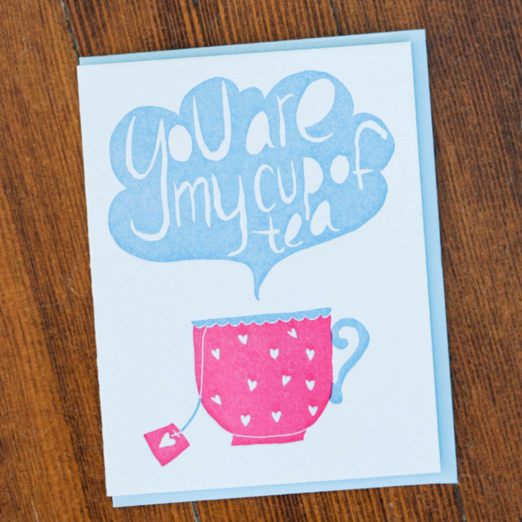 Cup of Tea Letterpress Card Stationery and Calendars - Folio Press, The Santa Barbara Company