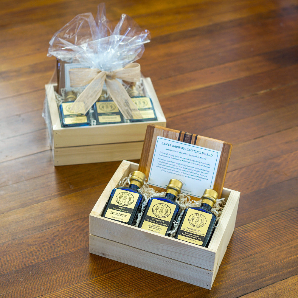 Perfect Ojai Olive Oil Gift Crate Gift Sets and Boxes - Assorted/Gifts, The Santa Barbara Company - 1