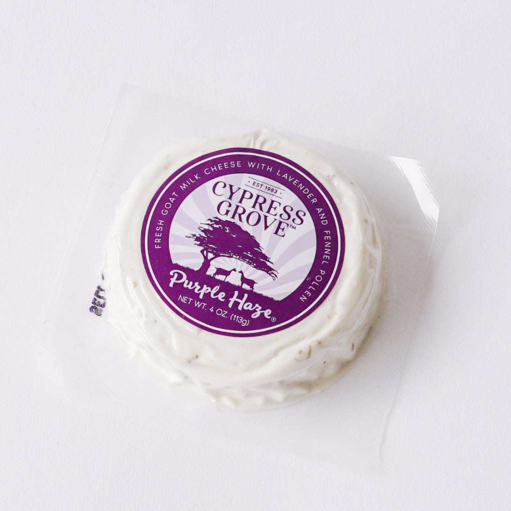 Purple Haze Goat Cheese - Local Delivery Only Cheese - Tomales Bay Foods, The Santa Barbara Company