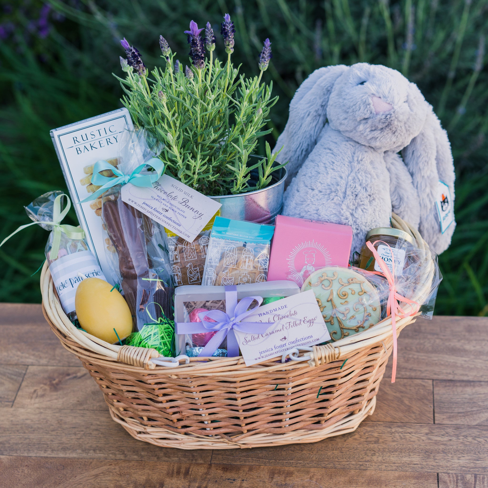 Sweet easter basket for the whole family hand delivery in santa sweet easter basket negle Image collections