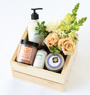 Riviera Garden Gift Box with Flowers