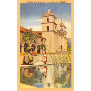 Fiesta at the Santa Barbara Mission Print Santa Barbara Prints - Found Image, The Santa Barbara Company