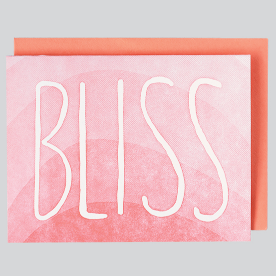 Bliss Letterpress Greeting Card